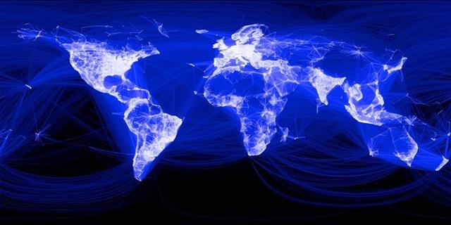 Die Facebook-Welt: je mehr Nutzer, desto heller